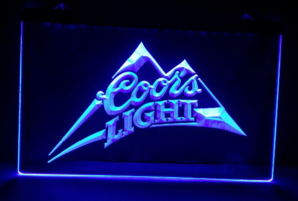 b 18 Coors Light beer bar pub club 3d signs LED Neon Light