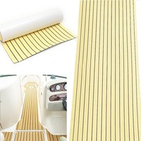 Excellent 90x230cm Gold Self Adhesive Marine Flooring Synthetic EVA Foam Teak Boat Yacht Decking Sheet Foam