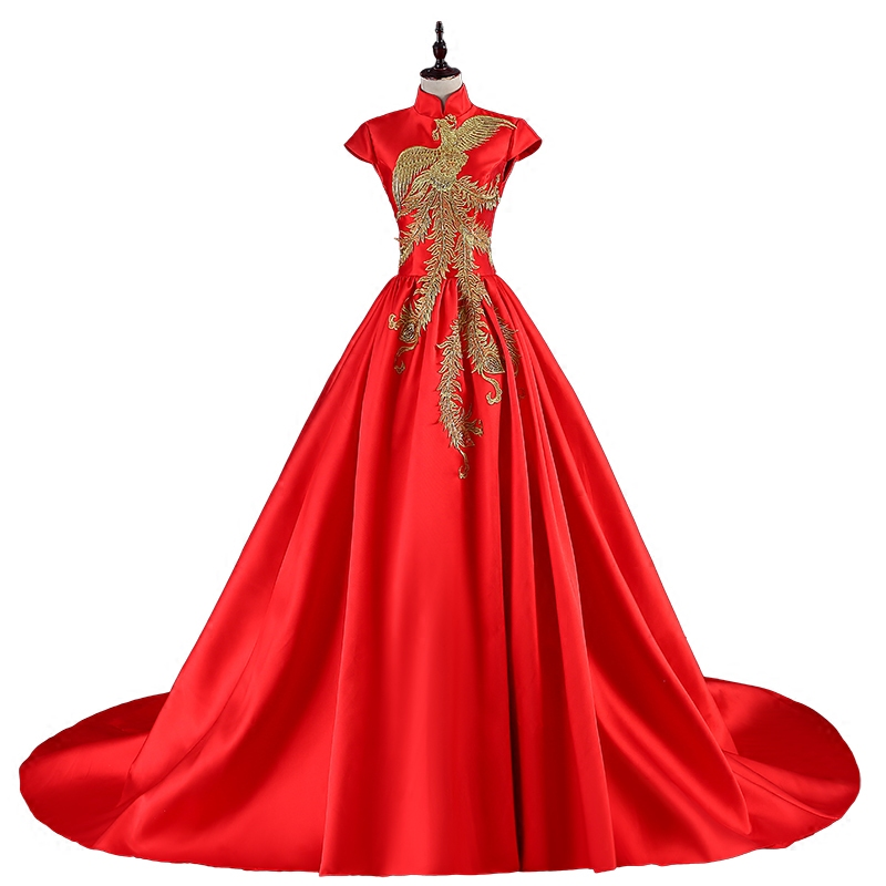 S 2019 Femmes 4 Longue xxl 6 De red Robe red 1 Maxi Rouge Style Mode Chinois Partie red 5 12 2 Cheongsam red red 11 red Remorquage red 10 red 3 Oriental 9 Luxe Qipao 7 red Élégant Red red 8 red r4rxwqaP
