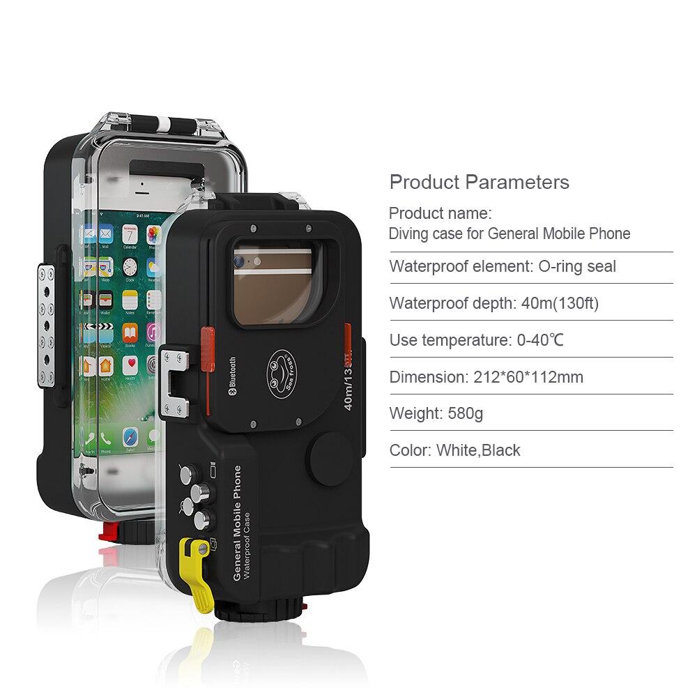 Universal Waterproof case For Xiaomi Mi 8 A2 Lite A1 9 Mi8 Mi6 Mi9 SE 9t Pro Pocophone F1 Cover Photo Diving housing Underwater - 4