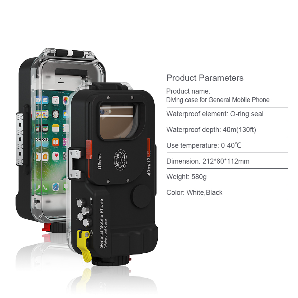 Universal Waterproof case Voor Huawei P30 P20 Pro P10 Lite Plus Honor 8A 9 7A 7C 10 20 Cover Photo duiken behuizing Onderwater - 4