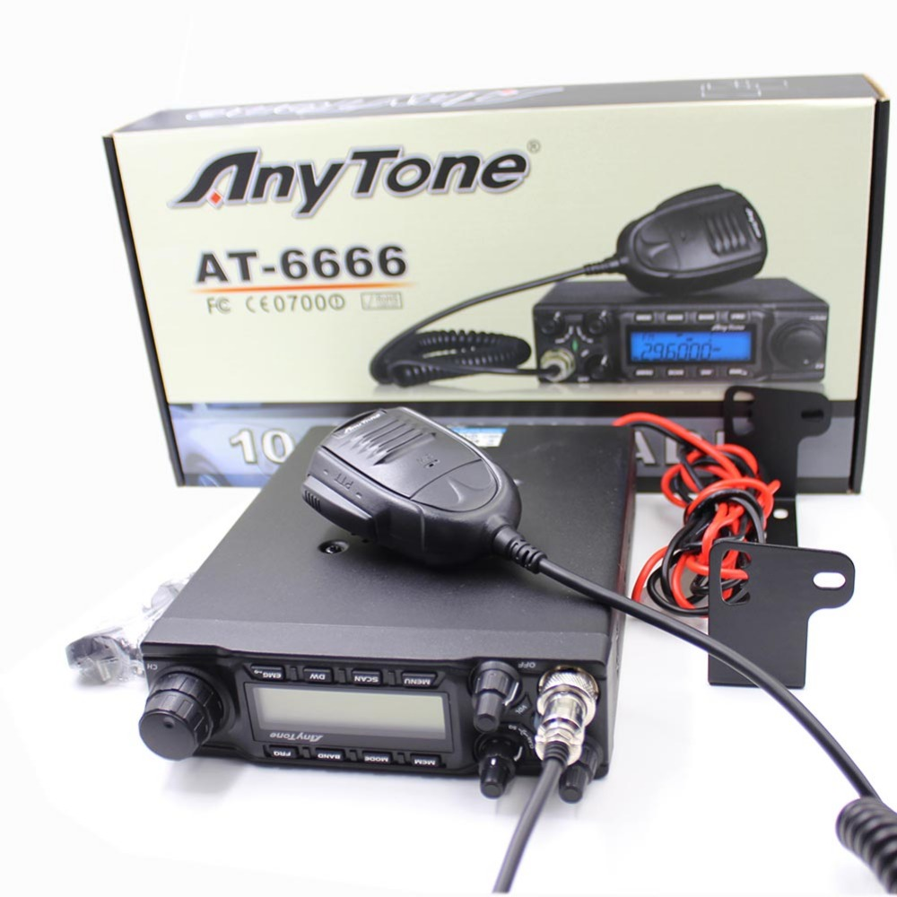 CB Radio ANYTONE AT-6666 28.000 - 29.699 <font><b>Mhz</b></font> 40 Channel Mobile Transceiver AT6666 AM/FM/SSB <font><b>10</b></font> Meter Radio image