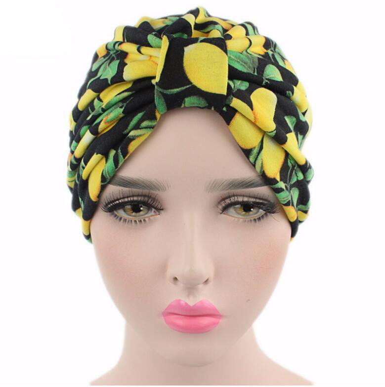 Vintage Women Turban Hats flower Dome Hat Head Wrap Chemo Hats Bandana Hijab knotted Indian cap for summer and spring skullies 2017 fashion new arrival indian yoga turban hat ear cap sleeve head cap hat men and women multicolor fold 1866688