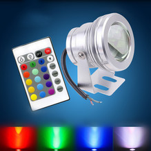 16 Colors 10W 12V RGB LED Underwater Fountain Light 1000LM Swimming Pool Pond Fish Tank Aquarium LED Light Lamp IP68 Waterproof