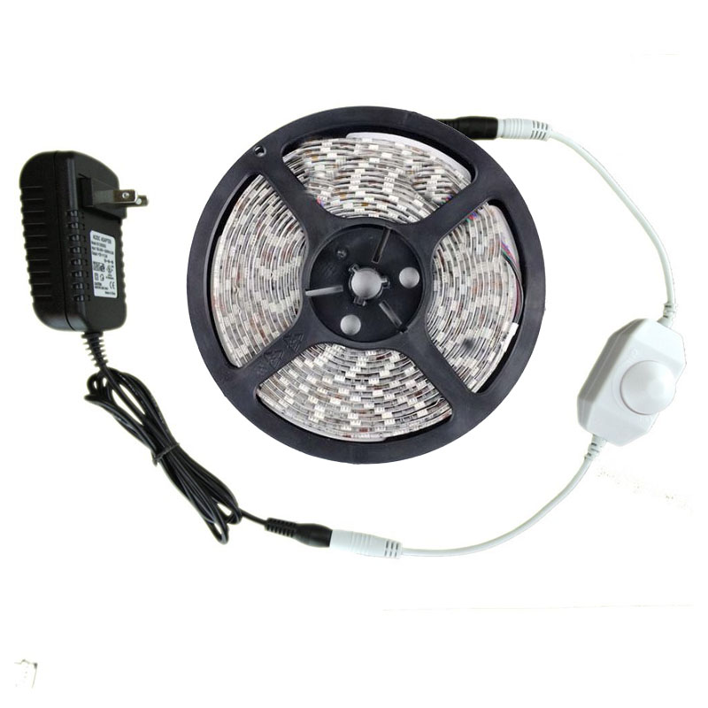 12v 5m dimmable led strip 300 leds tira 2835 kit - Tiras de led exterior ...