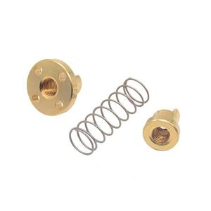 1 шт. T8 противолюфтовая пружинная гайка для 8 мм Резьбовые стержневые свинцовые винты DIY CNC 3D части принтера
