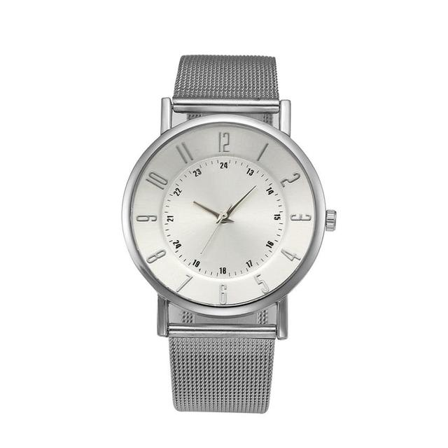 Classic Geneva Brand Quartz Watch Casual Fashion Women Watch Stainless Steel Mesh Strap Ultra Thin Relogio Feminino  #D
