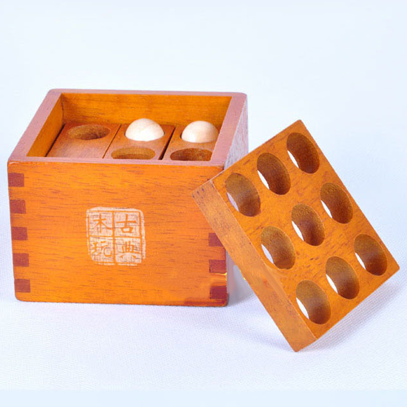 Wooden Assembled Toy Building Blocks Rack Ones Brains Let It Into the Box Jigsaw