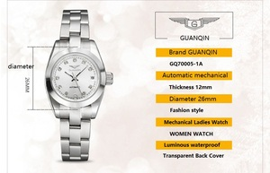 Image 3 - GUANQIN montre mécanique pour femmes, lumineuse, de luxe, diamant, pour filles, 2020