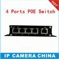 CCTV 4-портовый 10/100 М PoE Net Switch/Hub Power Over Ethernet PoE & Optical Transmission For IP Система камеры Сетевые Коммутаторы