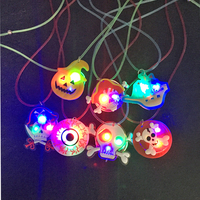 Halloween Led Costume LED Party Light Up Necklace Glowing In Dark Kids toys Light Glow Party Supplies Glow In The Dark Necklace