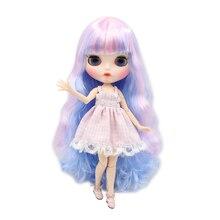 Специальная цена Blyth кукла суставная тело фантазия розовый смешанный синий длинные вьющиеся волосы с челкой матовый лицо белая кожа DIY SD игрушка подарок