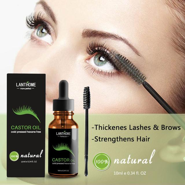 Eyelash Growth Essential Oil Nourish Hair Essential Oil Natural Castor Oil Calm Prevent Skin Aging Organic Essential Oil TSLM1