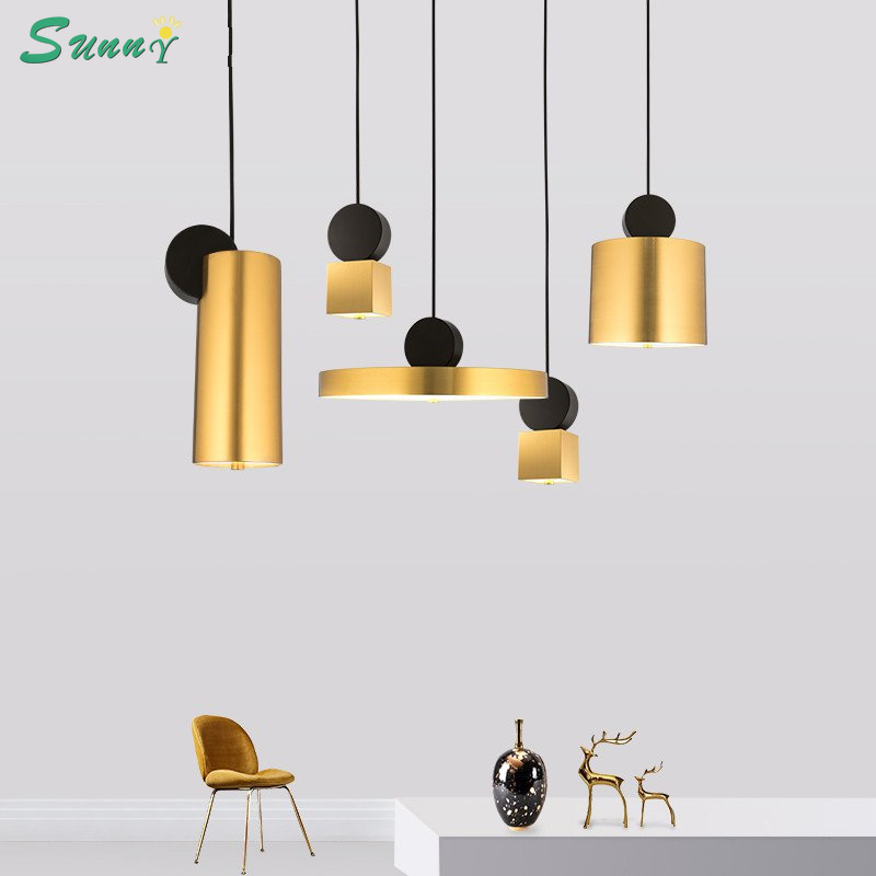 Postmodern Designer Creative Gold Pendant Lights Living Room Restaurant Dining Room Pendant Lamps Modern Home Decor Led HanglampPostmodern Designer Creative Gold Pendant Lights Living Room Restaurant Dining Room Pendant Lamps Modern Home Decor Led Hanglamp