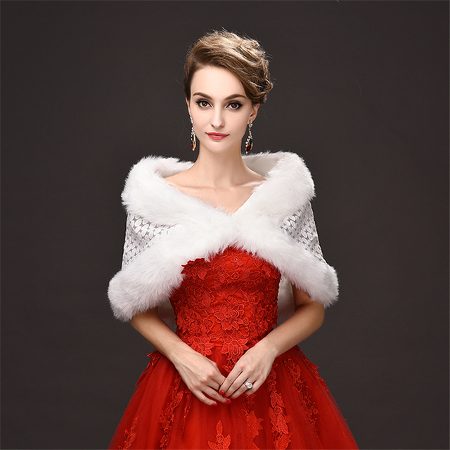 Cheap 2017 New Bridal Wraps Wedding Accessories Wedding Shrug Faux ...