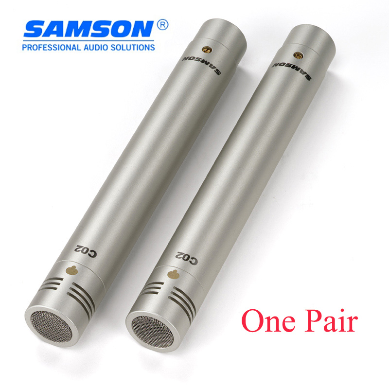Original Samson C02 Pencil Condenser Microphone professional musical instrument pickup microphone condenser microphone 2 pieces