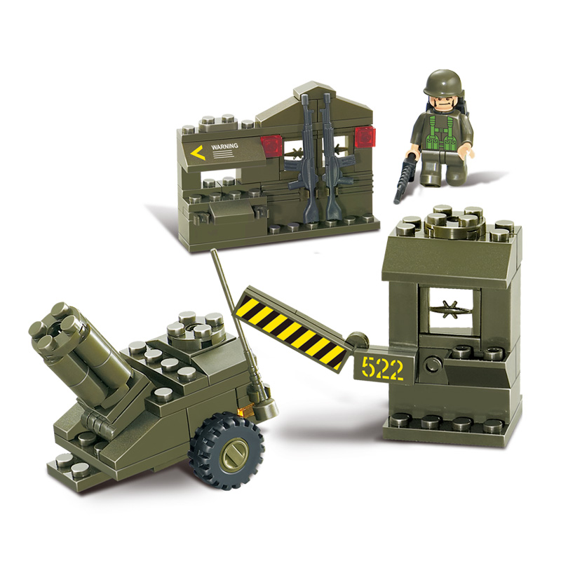 B0295 93pcs Military Series Enlighten Building Blocks Set 3D Construction Bricks Toy Educational Toys for Children