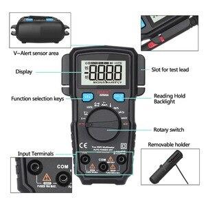Image 2 - Bside ADM66 True Rms Digitale Multimeter Auto Range Trms Mini 6000 Dmm Dual Slot Capaciteit Ohm Hz Temp Ncv Diode pocket Tester