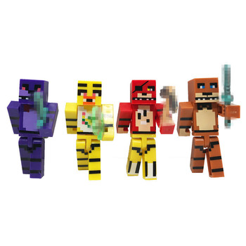 New FNAF Action Figures Anime Five Nights At Freddy's 4 Foxy Bonnie Freddy Figure Toys Kids Building Block freddy fazebear chica foxy full face latex mask costume toys five nights at freddy fnaf halloween horror mask brinqudoes l2079