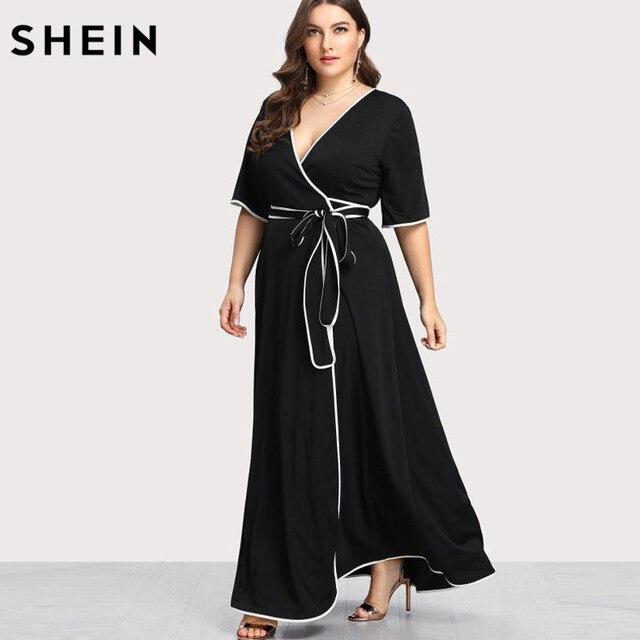 nuevo estilo y lujo mejor selección de reputación confiable Fiesta Maxi Más Negro Tamaño Vestidos De Verano Shein ...
