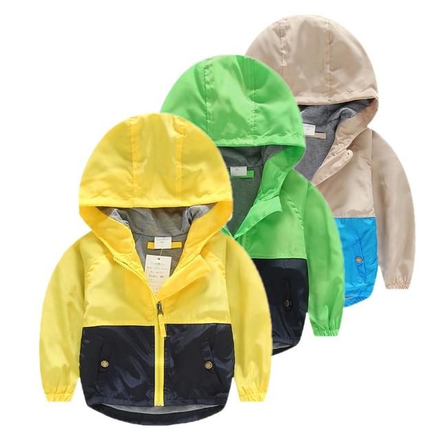 куртка для мальчика ветровки ветровка для девочки детские куртки для мальчиков девочек весной детей одежду для мальчик одежду ребенка верхней одежды пальто весна осень детская С капюшоном одежда плащ дождевик детский