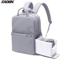 Caden 14 Inch Laptop Backpack Women Male DIY Black Bagpack Teenage Girls Mochila Feminina Casual Nylon
