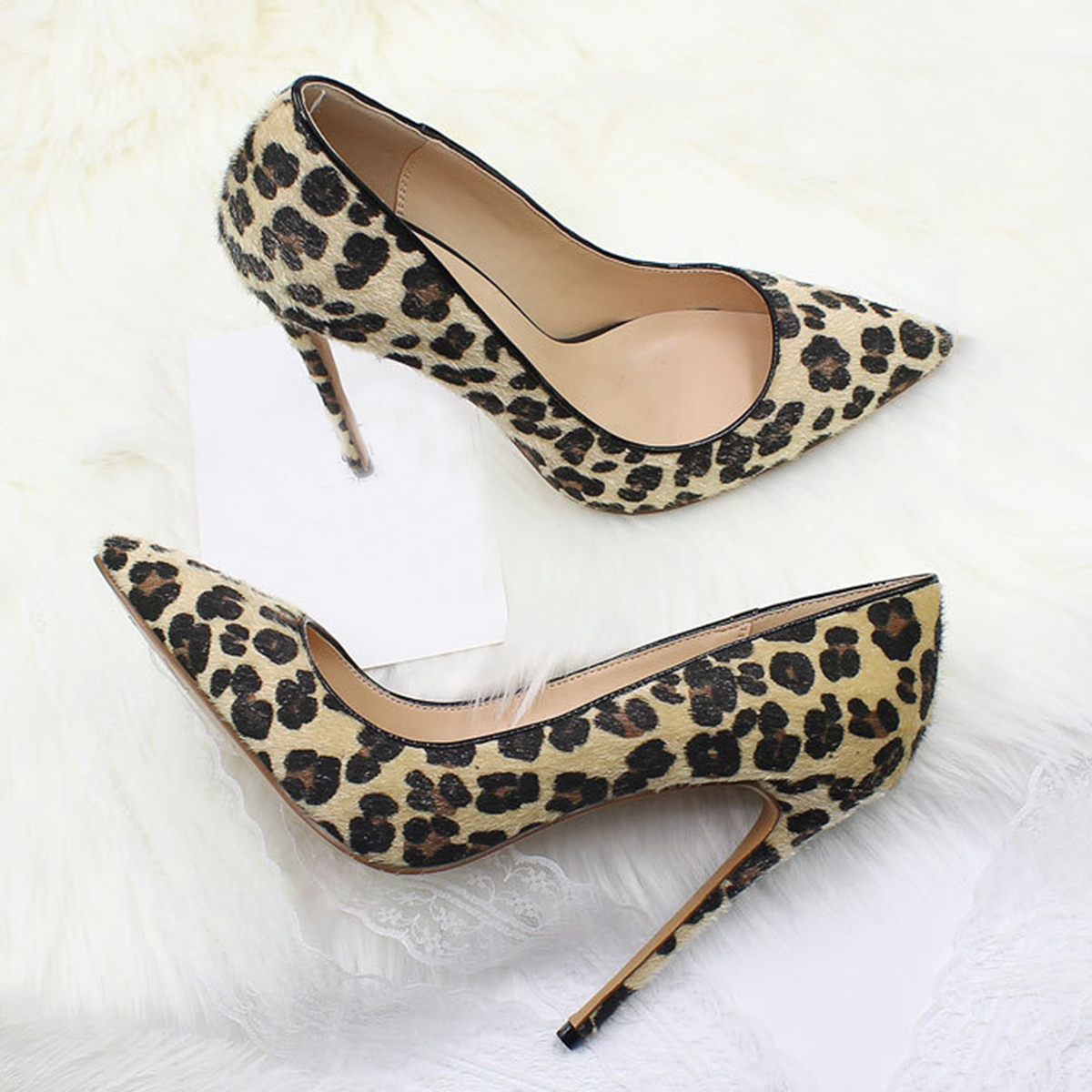 Dünne Sexy Schuhe Spitz A Slip Stilettos b f d High Pumpen Frühling Sommer Party Heels Auf Fersen c Clubwear e Muster Leopard Frauen O75wdq7