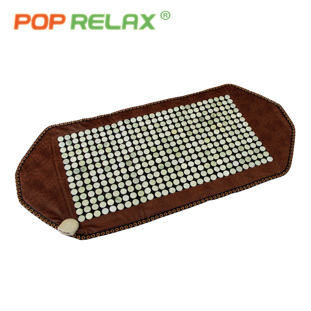 POP RELAX stone heating massage mat health care far infrared thermal physical therapy body pain relief jade stone mat mattress pop relax 110v health massage mat stone mattress red photon light therapy tourmaline maifan body pain relief heating mattress