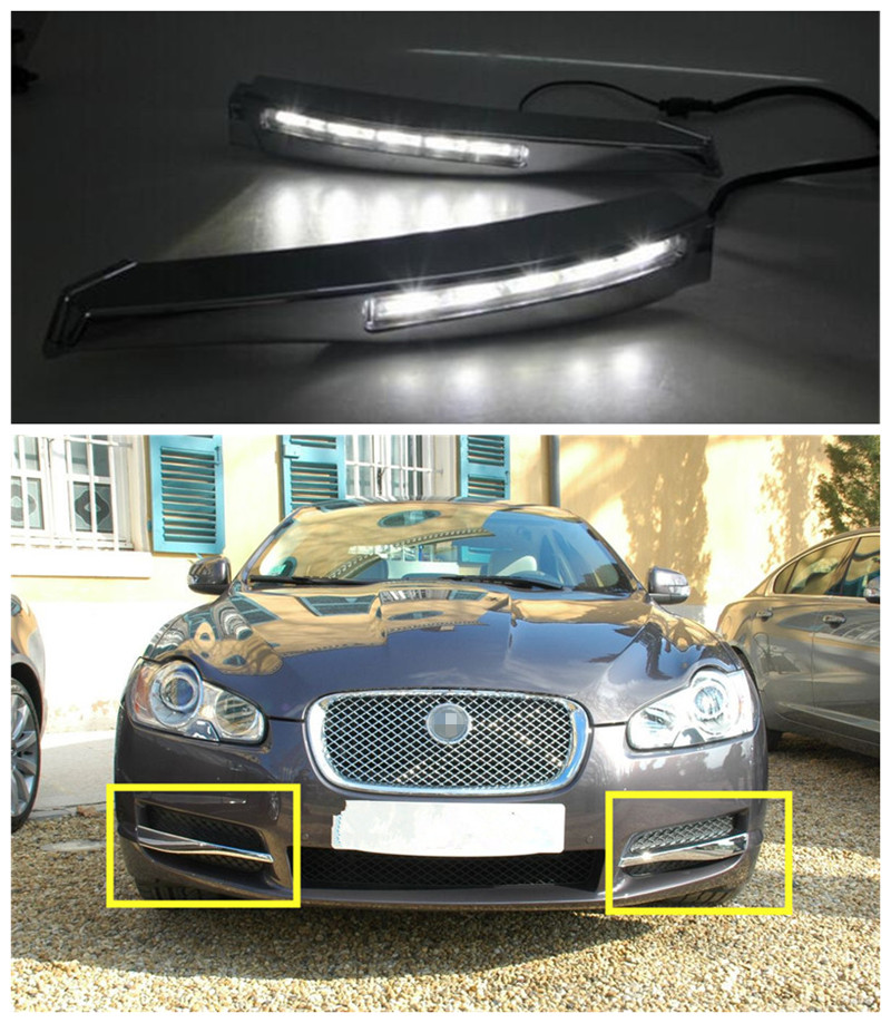 2010 Jaguar Coupe: 12V Car LED DRL Fog Lamp Cover Daytime Running Lights Kit