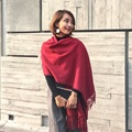 New Wool plush Solid color tassels scarf women Thicken Soft Winter scarf Fashion Shawls and Scarves Women's Scarves 200*70cm