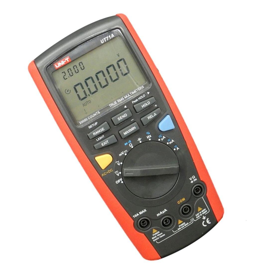 UNI-T 1 set UT71A Intelligent Digital Multimeters CD Digital AC DC current voltage USB true Resistance Tester Ammeter Multites мультиметр uni t uni t ut71b alicate amperimetro ac dc