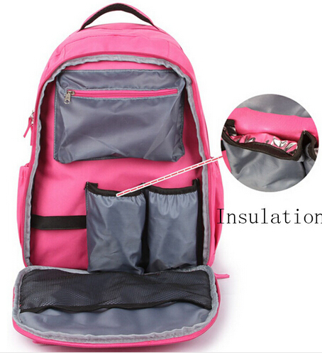 ФОТО 32*19*42cm Fashion Dot Baby Diaper Bag Backpack High-Capacity Mother Mummy Baby Bag Multifunctional Insulation Bottle Nappy Bags