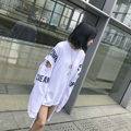 Уличной моды HARAJUKU краткое письмо лямки midsweet flash вырез длинными рукавами свободные bf длинными рукавами пуловер толстовка