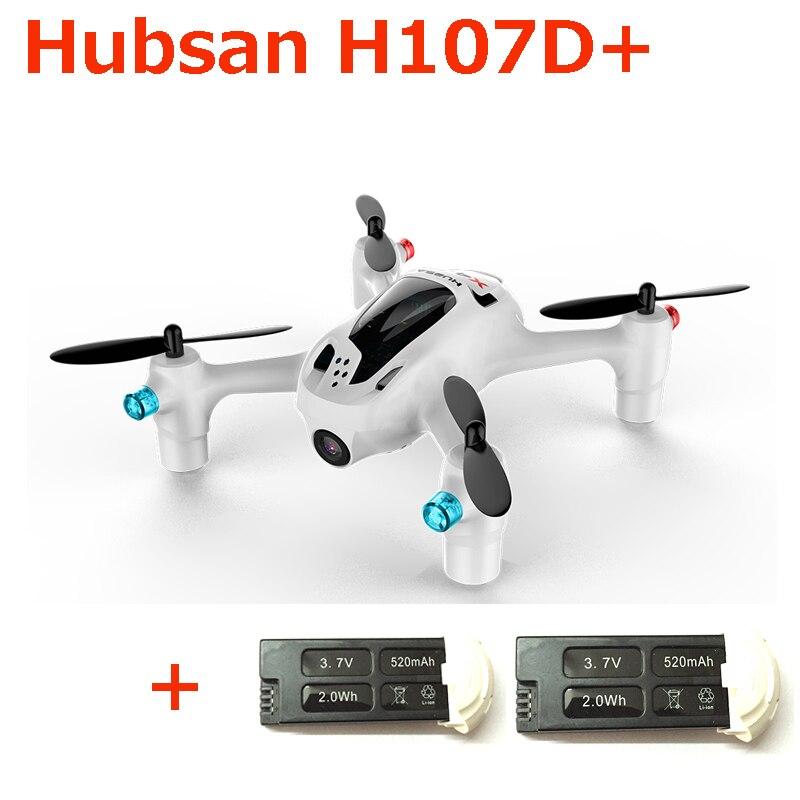 (Obtenez une batterie supplémentaire) Hubsan FPV X4 Plus H107D + avec caméra HD 720 P Gyro RC quadrirotor RTF 6 axes