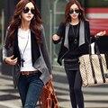 2016 Outono Mulheres Jaqueta Casaco Estilo Korea Moda Casual Cor Feitiço Zíper Lateral Fino Outwear Topos Cardigan Feminino Terno Casacos