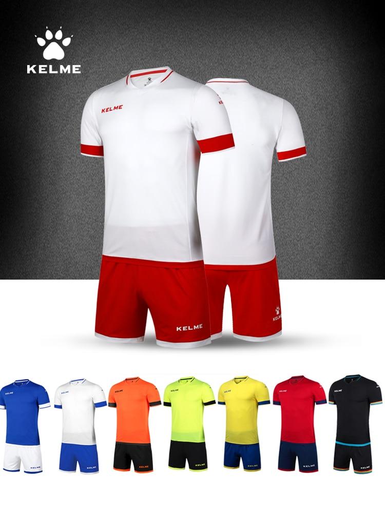 KELME Men Soccer Team Uniforms Sets Custom Training Football Jersey Set Clothing Survetement Sportswear K15Z203