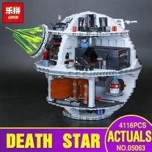 2017 Lepin 05063 4116pcs Genuine New Star War Force Waken UCS Death Star Educational Building Blocks Bricks Toys Boy Toys 75159