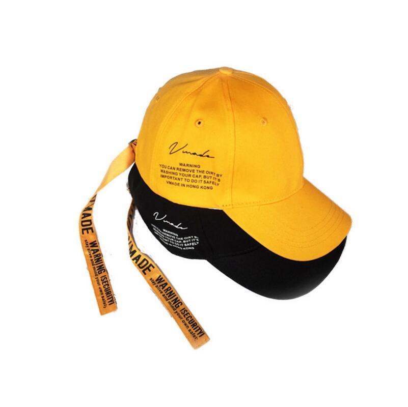782f728a321 Korea star fashion yellow black curved dad hats baseball cap men ...