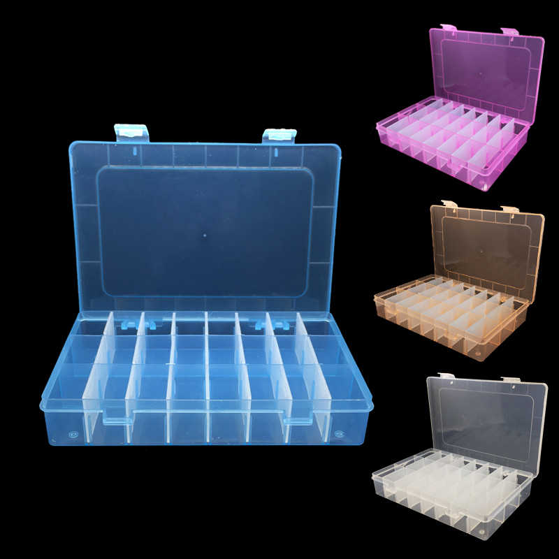 1pcs/set Portable 24 Gird Detachable Cell Storage Box Container Case Fishing Screw Jewelry Hardware Rhinestone Hand Tools Boxes