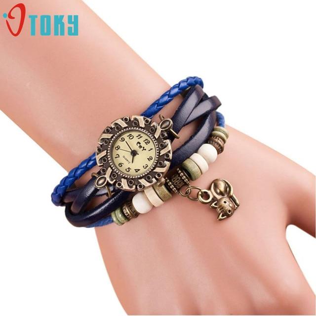 OTOKY Watch 2018 cFashion Woman Watches Cat Quartz Leather Bracelet Watch Lady W