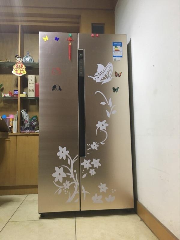 Korkealaatuinen luova jääkaappi musta tarra perhonen kuvio seinä - Kodin sisustus - Valokuva 5