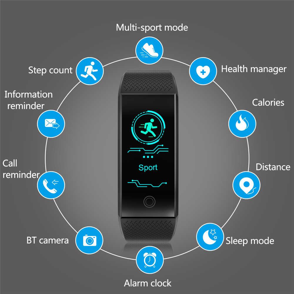 フィットネス smart watch 男性女性歩数計心拍数モニター防水 IP68 スイミングランニングスポーツ時計の Android IOS