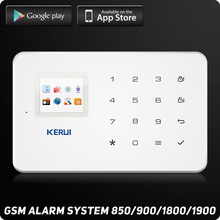 G18 GSM Alarm System TFT Android IOS APP Touch keypad  Android ISO App Smart Home Burglar Alarm  System DIY Motion Sensor
