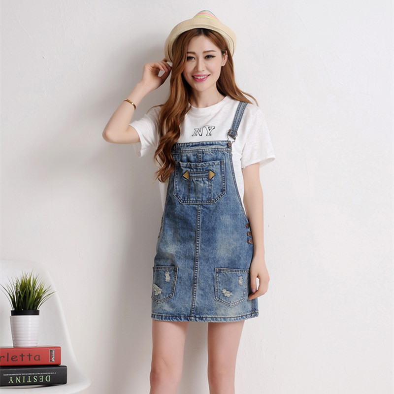 d0011485061 New 2016 Women s Denim Overalls Korean Style Leisure Loose  Jumpsuits Rompers Overalls Pocket Female Skirts Jeans