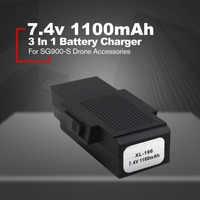 3 In 1 Multifunctional Battery Charger 7.4V 1100mA Quadcopter Battery Adapter for SG900 S Drone Accessories