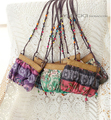 2017 New Boho Bohemia Exotic Floral Straw Weave Strap Cloth Handbag Beach Messenger Bag