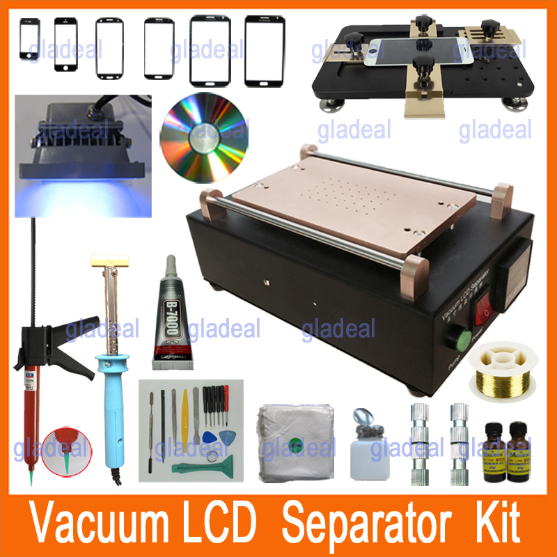 2015 Built-in Vacuum Pump LCD Separator Machine Kit Universal Mold Tool to Repair Glass Touch Screen Digitizer for iPhone 4 5 6 free shipping screen repair machine kit ly 946d lcd separator for 5 inch mobile screen 12 in 1 separate machine
