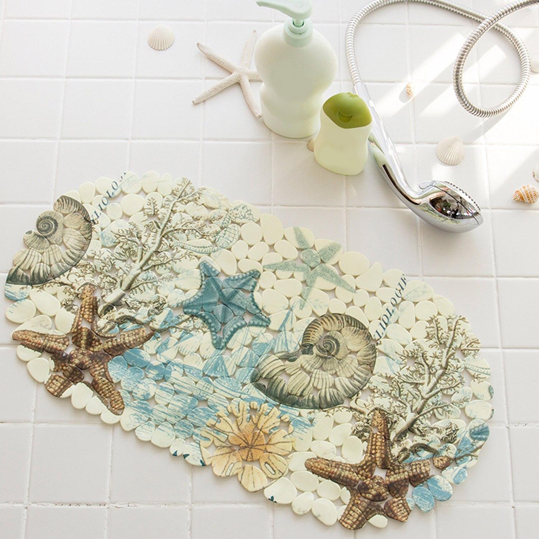 NC Colorful Sea Non Slip Sticker Shower Mats Baby Kids Bathtub Rugs Floor Mats Carpet Suction Cups for Bathroom Bathtub Toilet