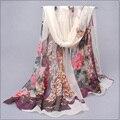 2016 New Fashion Scarf Women Printing scarf Silk Chiffon Spring Autumn Scarf bandana shawl foulards femme Wrap silk scarf FQ052