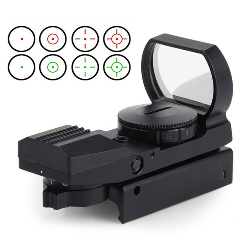 Hunting Accessories Tactical Reflex Holographic 4 Reticle Red Green Adjustable Dot Sight Rail Mount Military Gear